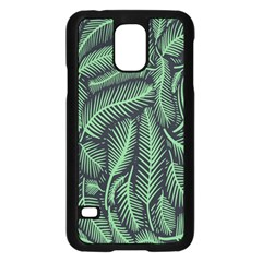 Coconut Leaves Summer Green Samsung Galaxy S5 Case (black)