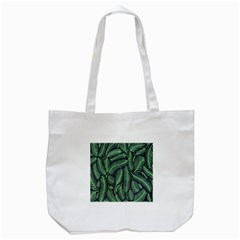 Coconut Leaves Summer Green Tote Bag (white) by Mariart