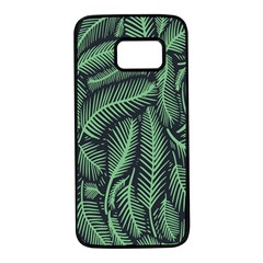 Coconut Leaves Summer Green Samsung Galaxy S7 Black Seamless Case by Mariart