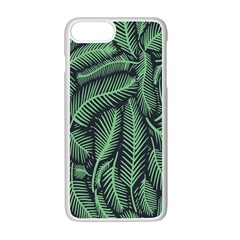 Coconut Leaves Summer Green Apple Iphone 7 Plus White Seamless Case by Mariart