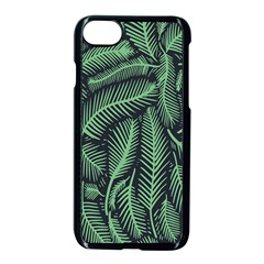 Coconut Leaves Summer Green Apple Iphone 7 Seamless Case (black)