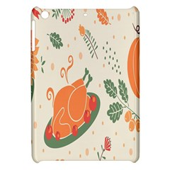Happy Thanksgiving Chicken Bird Flower Floral Pumpkin Sunflower Apple Ipad Mini Hardshell Case by Mariart