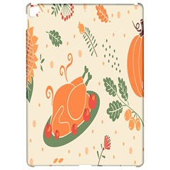 Happy Thanksgiving Chicken Bird Flower Floral Pumpkin Sunflower Apple Ipad Pro 12 9   Hardshell Case by Mariart