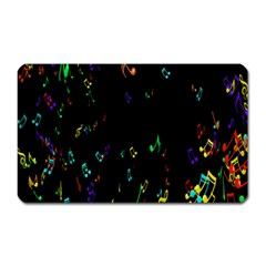 Colorful Music Notes Rainbow Magnet (rectangular) by Mariart