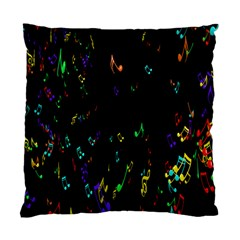 Colorful Music Notes Rainbow Standard Cushion Case (two Sides) by Mariart
