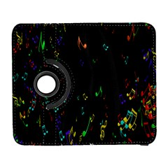 Colorful Music Notes Rainbow Galaxy S3 (flip/folio) by Mariart