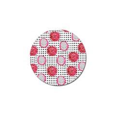 Fruit Patterns Bouffants Broken Hearts Dragon Polka Dots Red Black Golf Ball Marker (10 Pack) by Mariart
