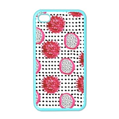 Fruit Patterns Bouffants Broken Hearts Dragon Polka Dots Red Black Apple Iphone 4 Case (color) by Mariart