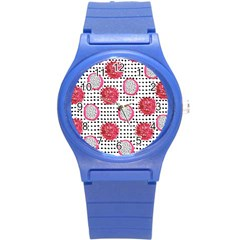 Fruit Patterns Bouffants Broken Hearts Dragon Polka Dots Red Black Round Plastic Sport Watch (s) by Mariart
