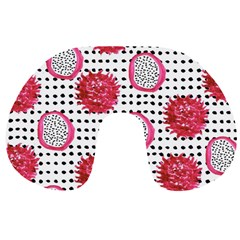 Fruit Patterns Bouffants Broken Hearts Dragon Polka Dots Red Black Travel Neck Pillows by Mariart