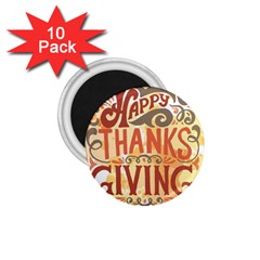 Happy Thanksgiving Sign 1 75  Magnets (10 Pack)  by Mariart