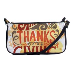 Happy Thanksgiving Sign Shoulder Clutch Bags by Mariart