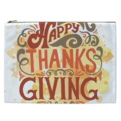 Happy Thanksgiving Sign Cosmetic Bag (xxl)  by Mariart