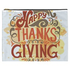 Happy Thanksgiving Sign Cosmetic Bag (xxxl)  by Mariart