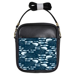 Jellyfish Fish Cartoon Sea Seaworld Girls Sling Bags by Mariart