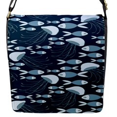 Jellyfish Fish Cartoon Sea Seaworld Flap Messenger Bag (s) by Mariart