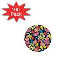Fruit Pineapple Watermelon Orange Tomato Fruits 1  Mini Buttons (100 Pack)  by Mariart