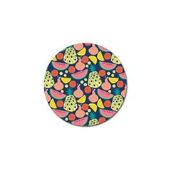 Fruit Pineapple Watermelon Orange Tomato Fruits Golf Ball Marker (4 Pack) by Mariart