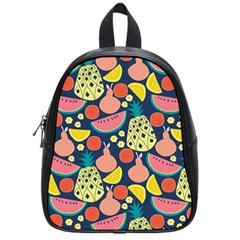 Fruit Pineapple Watermelon Orange Tomato Fruits School Bag (small) by Mariart
