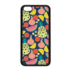 Fruit Pineapple Watermelon Orange Tomato Fruits Apple Iphone 5c Seamless Case (black) by Mariart