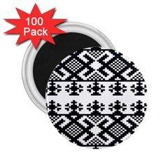 Model Traditional Draperie Line Black White Triangle 2 25  Magnets (100 Pack)  by Mariart