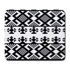 Model Traditional Draperie Line Black White Triangle Large Mousepads by Mariart