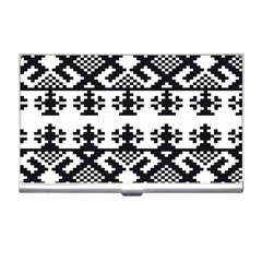 Model Traditional Draperie Line Black White Triangle Business Card Holders by Mariart