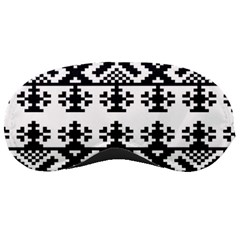 Model Traditional Draperie Line Black White Triangle Sleeping Masks by Mariart