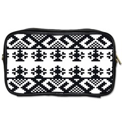 Model Traditional Draperie Line Black White Triangle Toiletries Bags by Mariart