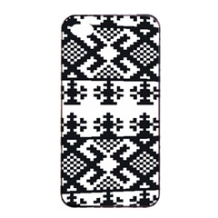 Model Traditional Draperie Line Black White Triangle Apple Iphone 4/4s Seamless Case (black) by Mariart
