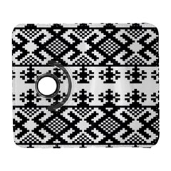 Model Traditional Draperie Line Black White Triangle Galaxy S3 (flip/folio) by Mariart