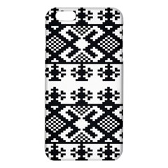 Model Traditional Draperie Line Black White Triangle Iphone 6 Plus/6s Plus Tpu Case by Mariart