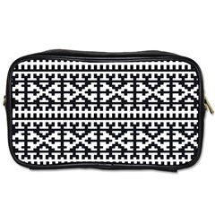 Model Traditional Draperie Line Black White Toiletries Bags 2 Side by Mariart