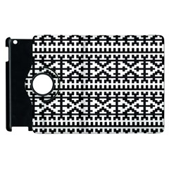 Model Traditional Draperie Line Black White Apple Ipad 2 Flip 360 Case by Mariart