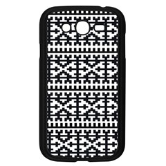 Model Traditional Draperie Line Black White Samsung Galaxy Grand Duos I9082 Case (black) by Mariart