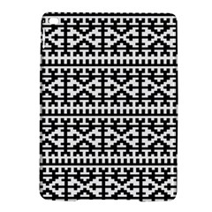 Model Traditional Draperie Line Black White Ipad Air 2 Hardshell Cases by Mariart