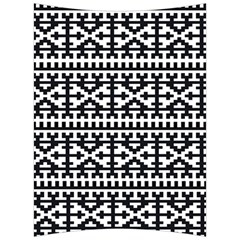 Model Traditional Draperie Line Black White Back Support Cushion