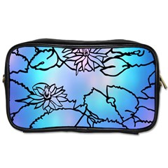 Lotus Flower Wall Purple Blue Toiletries Bags by Mariart