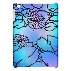 Lotus Flower Wall Purple Blue Apple Ipad Mini Hardshell Case by Mariart