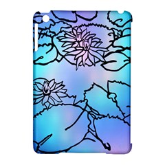 Lotus Flower Wall Purple Blue Apple Ipad Mini Hardshell Case (compatible With Smart Cover) by Mariart
