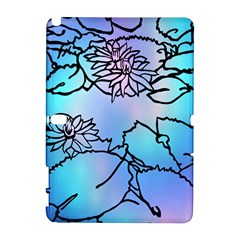 Lotus Flower Wall Purple Blue Galaxy Note 1 by Mariart