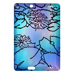 Lotus Flower Wall Purple Blue Amazon Kindle Fire Hd (2013) Hardshell Case by Mariart