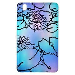 Lotus Flower Wall Purple Blue Samsung Galaxy Tab Pro 8 4 Hardshell Case by Mariart