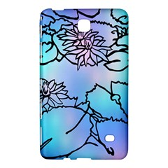 Lotus Flower Wall Purple Blue Samsung Galaxy Tab 4 (8 ) Hardshell Case  by Mariart