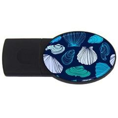 Mega Menu Seashells Usb Flash Drive Oval (4 Gb) by Mariart