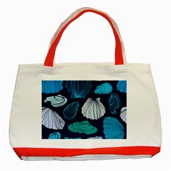 Mega Menu Seashells Classic Tote Bag (red) by Mariart