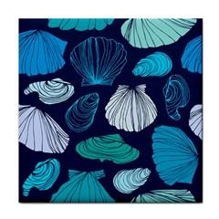 Mega Menu Seashells Face Towel by Mariart