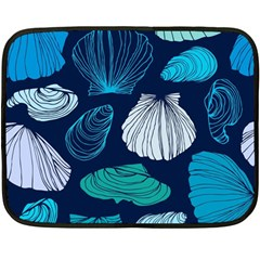 Mega Menu Seashells Double Sided Fleece Blanket (mini)  by Mariart