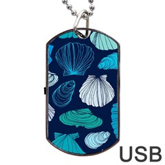 Mega Menu Seashells Dog Tag Usb Flash (one Side) by Mariart