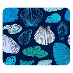 Mega Menu Seashells Double Sided Flano Blanket (small)  by Mariart